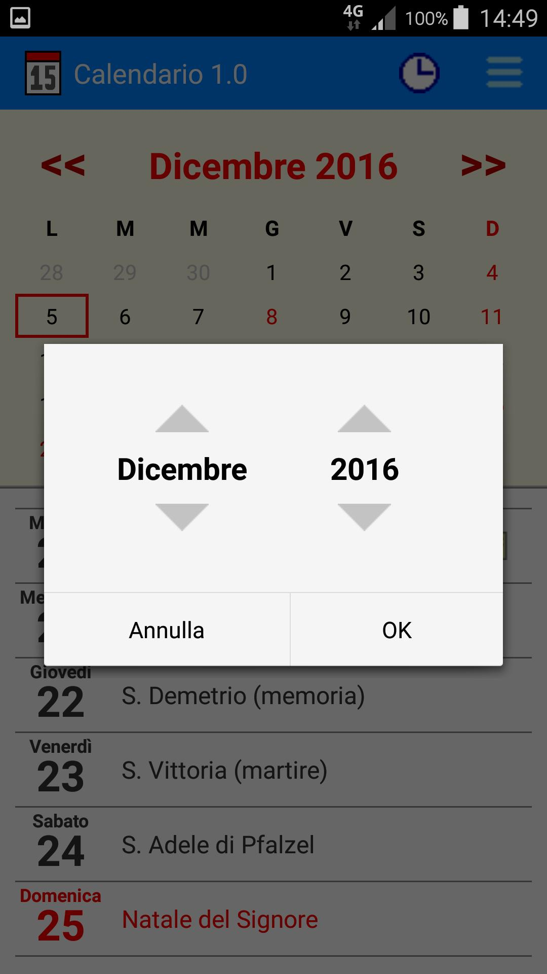 Onomastici Calendario.Calendario For Android Apk Download
