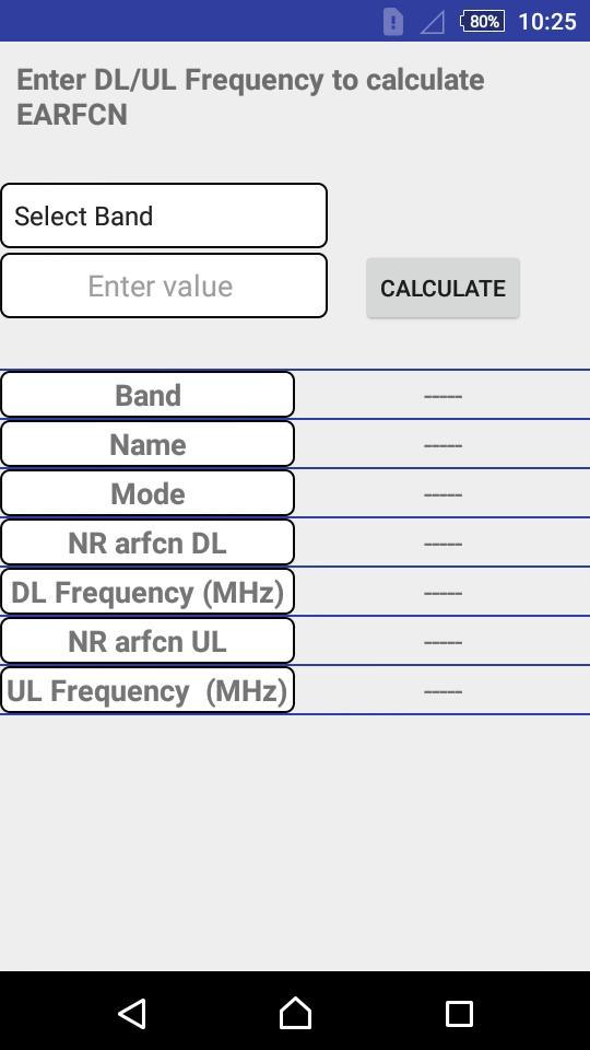 5G NR/4G LTE Frequency-ARFCN Calculator cho Android - Tải về APK