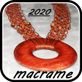 Learn to knit macrame. Macrame knots icon