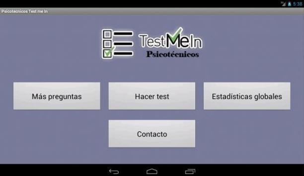 Psicotécnicos Oposiciones Test Me In... 2019 screenshot 9