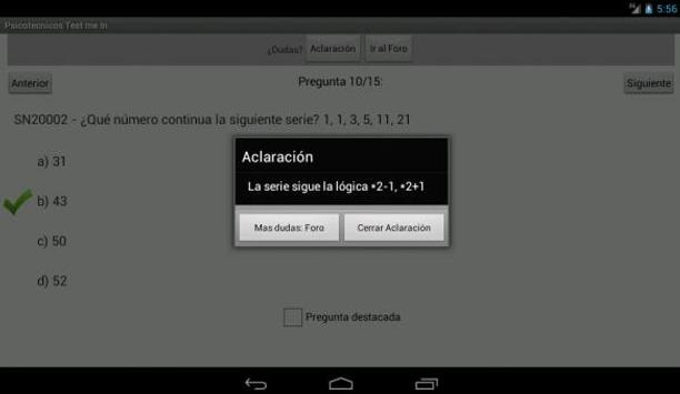 Psicotécnicos Oposiciones Test Me In... 2019 screenshot 11