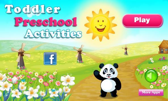 Toddler Preschool Activities poster