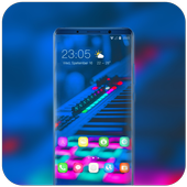 Theme for music band electroacoustic wallpaper icon