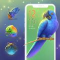 Beautiful Natural Blue Parrot Theme P20 Pro