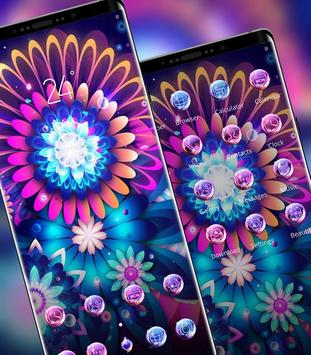 Abstract theme Bright and colorful glowing flowers screenshot 1