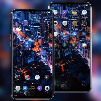 Landscape night city bright lights theme screenshot 1