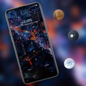 Landscape night city bright lights theme screenshot 2