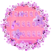 Pink Cherry Blossom SMS Keyboard Theme icon