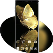 Golden Shining Noble Butterfly Theme icon