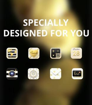 Golden Shining Noble Butterfly Theme screenshot 3