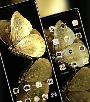 Golden Shining Noble Butterfly Theme screenshot 1