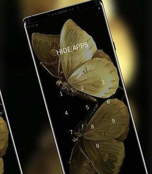 Golden Shining Noble Butterfly Theme screenshot 2