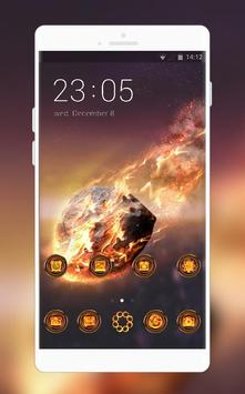 Samsung Galaxy S9 launcher | Fire stone theme poster
