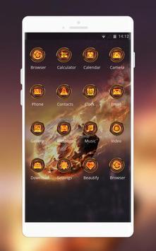 Samsung Galaxy S9 launcher | Fire stone theme screenshot 1