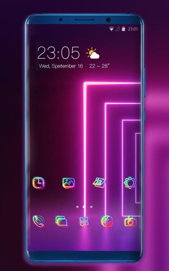 Theme For High Tech Abstract Light Wallpaper For Android