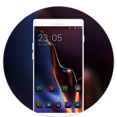 Theme for One Plus 6T Classic glass launcher icon