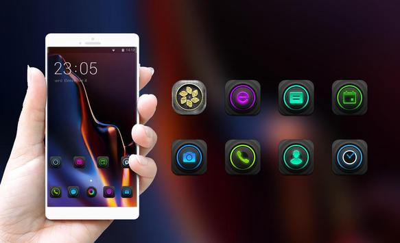 Theme for One Plus 6T Classic glass launcher screenshot 3
