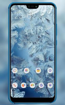 Icy feathers theme \ huawei p smart wallpaper poster
