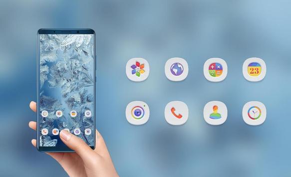 Icy feathers theme \ huawei p smart wallpaper screenshot 3