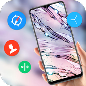 Abstract crystal water dew drop pure fresh theme icon