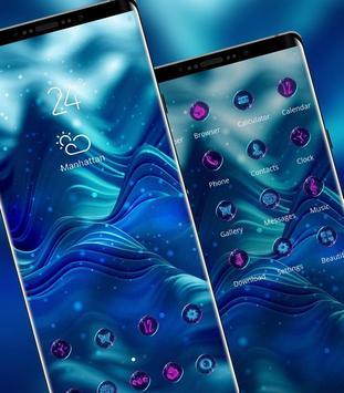 Abstract dark blue simple texture bling theme screenshot 1