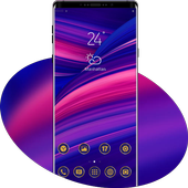 Abstract gradient simple pure phone classic theme icon