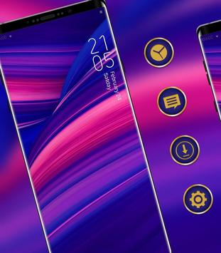 Abstract gradient simple pure phone classic theme poster