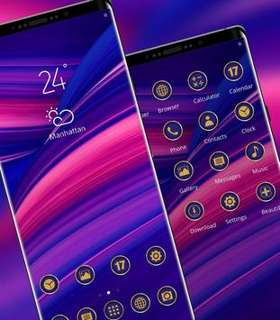 Abstract gradient simple pure phone classic theme screenshot 1