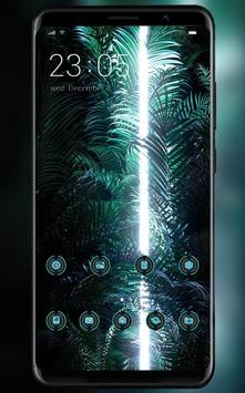 Lights in the dark cluster theme | LG Q9 launcher poster