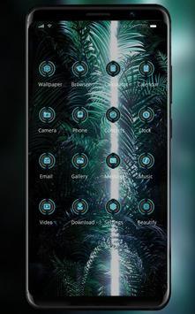 Lights in the dark cluster theme | LG Q9 launcher screenshot 1