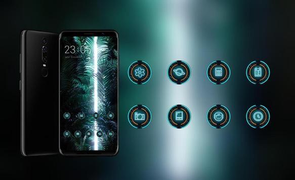 Lights in the dark cluster theme | LG Q9 launcher screenshot 3