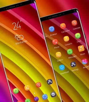 Abstract Rainbow lines theme for Android - APK Download