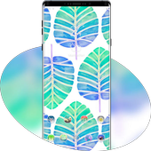 Abstract theme Watercolor leaves icon