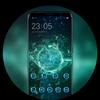 Crystal theme | wallpaper for dark tech circle icon