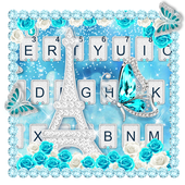 Glitter Diamond Butterfly Tower Keyboard Theme icon
