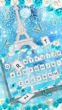 Glitter Diamond Butterfly Tower Keyboard Theme poster