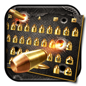 Cool Gun and Bullet Fire Keyboard Theme icon