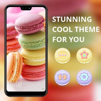 Food theme | bright macaron dessert wallpaper poster