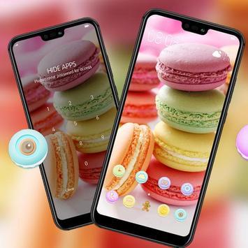 Food theme | bright macaron dessert wallpaper screenshot 2