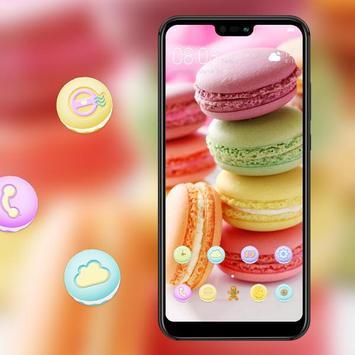 Food theme | bright macaron dessert wallpaper screenshot 3