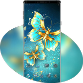 Blue Golden Butterfly Noble Symbol theme icon