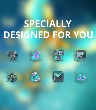 Blue Golden Butterfly Noble Symbol theme screenshot 3