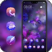 Purple butterfly flower light theme icon