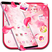 Pink Pretty Flower Theme 2019 icon