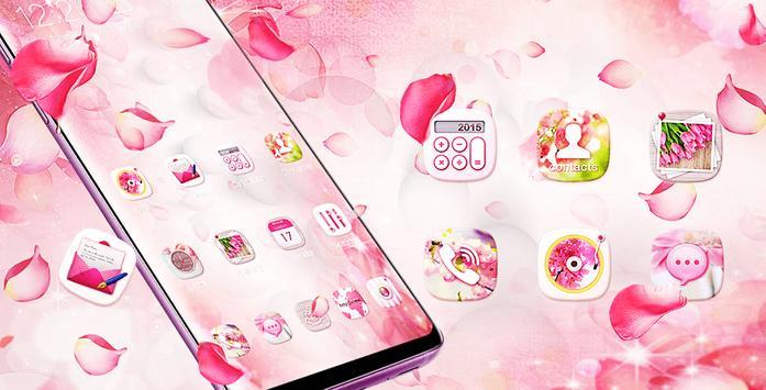 Pink Pretty Flower Theme 2019 screenshot 4