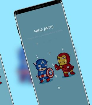 Hand drawing cartoon captain and iron-man theme screenshot 2