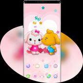 Cartoon Cute Pet Love theme icon