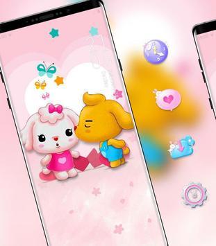 Cartoon Cute Pet Love theme poster