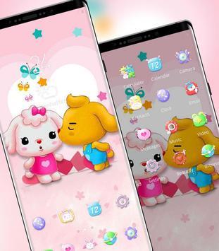 Cartoon Cute Pet Love theme screenshot 1