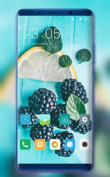 Theme for summer fresh cool fruits wallpaper poster